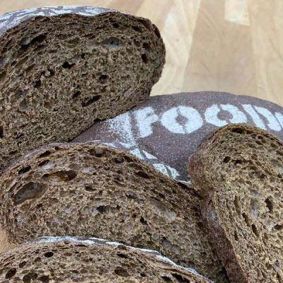 Хлеб черный на смеси МонтеКорн Солодово-Медовый производства компании Фудмикс