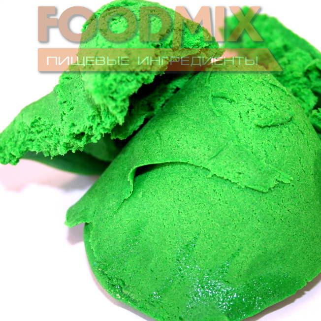 мастика сахарная цвет зеленый03